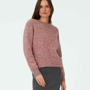 NWT club Monaco donegal speckled wool sweater rose